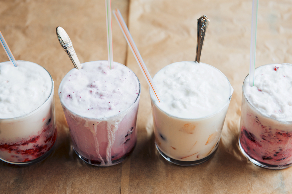 Summer Fruit and Vanilla Ice Cream Floats